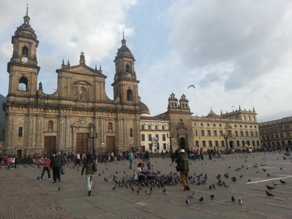 La plaza bolivar de Bogota