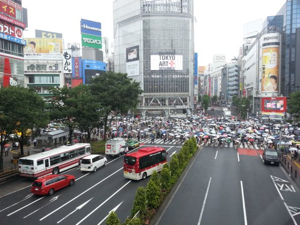 shibuya intersection japon